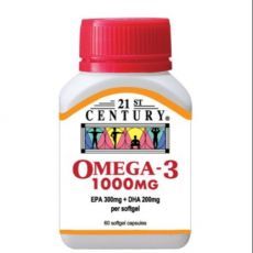 21st Century Omega 3 1000mg 60 Softgels