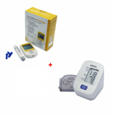Complete Set Blood Pressure Monitor  + Total Cholesterol And Blood Glucose