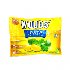 WOOD'S PEPPERMINT DROPS HONEY LEMON X 15 SACHET