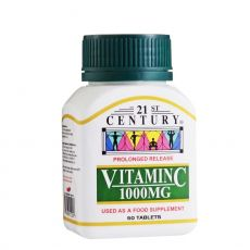 21st Century Vitamin C 1000mg Prolonged Release (50 Tabs)